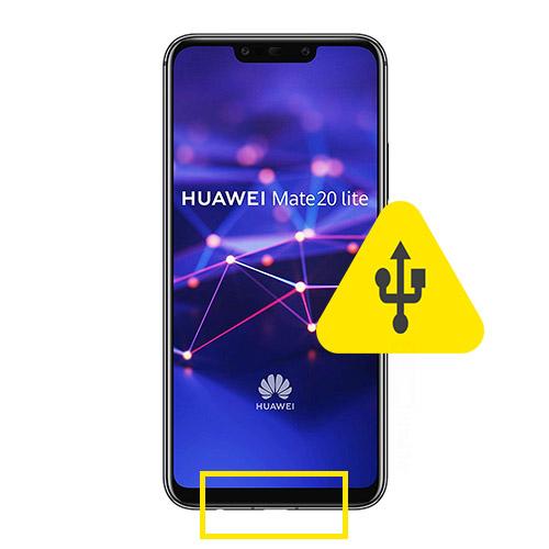 Huawei Mate 20 Pro usb ladeport reparasjon Drop in og