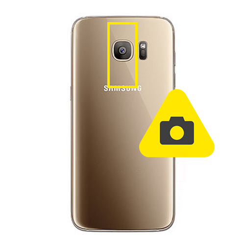 Samsung Galaxy S7 Edge bak kamera reparasjon Drop in og