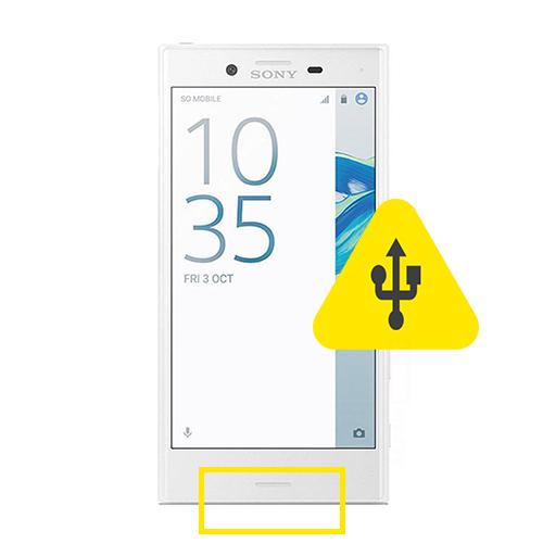Sony xperia Z5 Compact usb ladeport reparasjon Drop in og